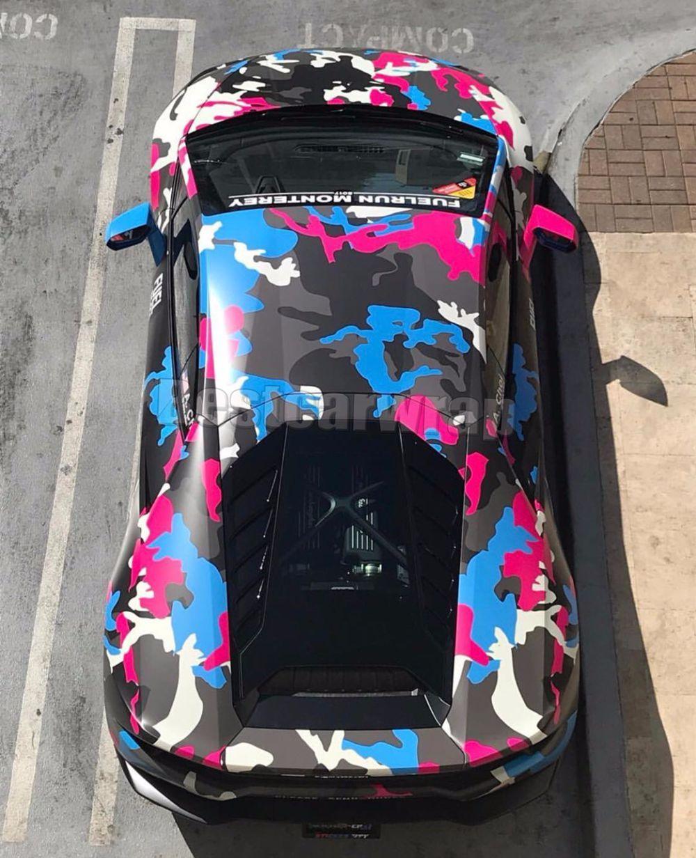 2019 красочный синий розовый черный камуфляж виниловая пленка для автомобиля автомобиль обертка графики камуфляж, покрывающие наклейки фольга с воздушным пузырем бесплатно 1.52x30m 5x98ft