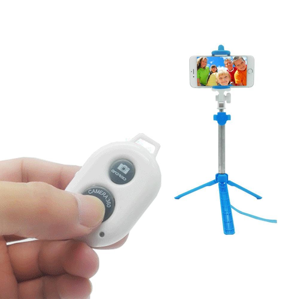3 in 1 무선 블루투스 Selfie 스틱 접이식 Selfiestick for iPhone 삼성 화웨이 원격 핸드 헬드 휴대 전화 미니 삼각대