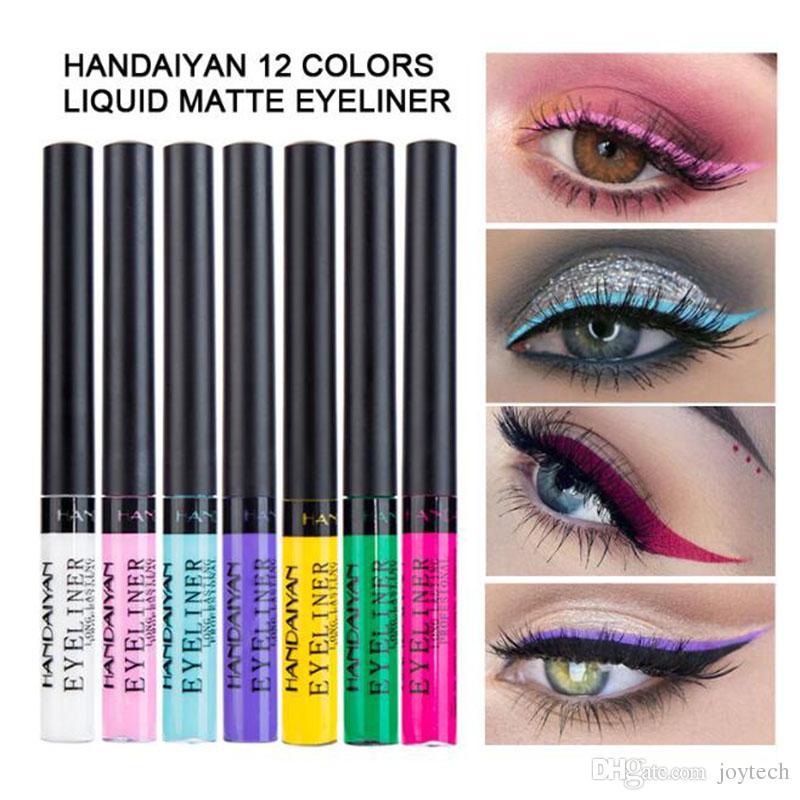 HANDAIYAN Metallic Metal Eyeliner Glitter Diamond shinny Liquid Eye Liner gel Eyshadow Shimmer Long Lasting Pigment waterproof eye makeup