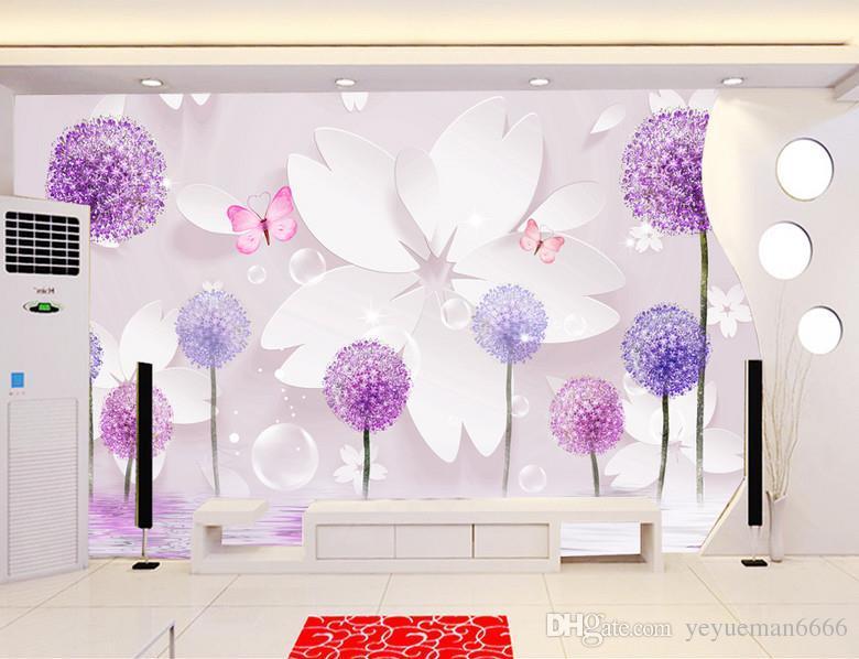 ديكور المنزل 3D خلفيات لغرفة المعيشة الهندباء خلفيات للجدار 3D جدار جدارية الفن خلفيات