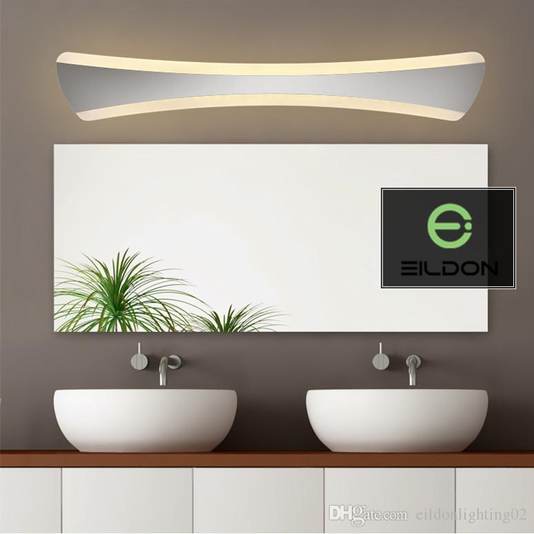LED Mirror Wall Light 15W AC85-265V 52CM 42CM Acrylic+Aluminum Art Decorations Indoor Lamps White Warm Direct from Shenzhen China Factory