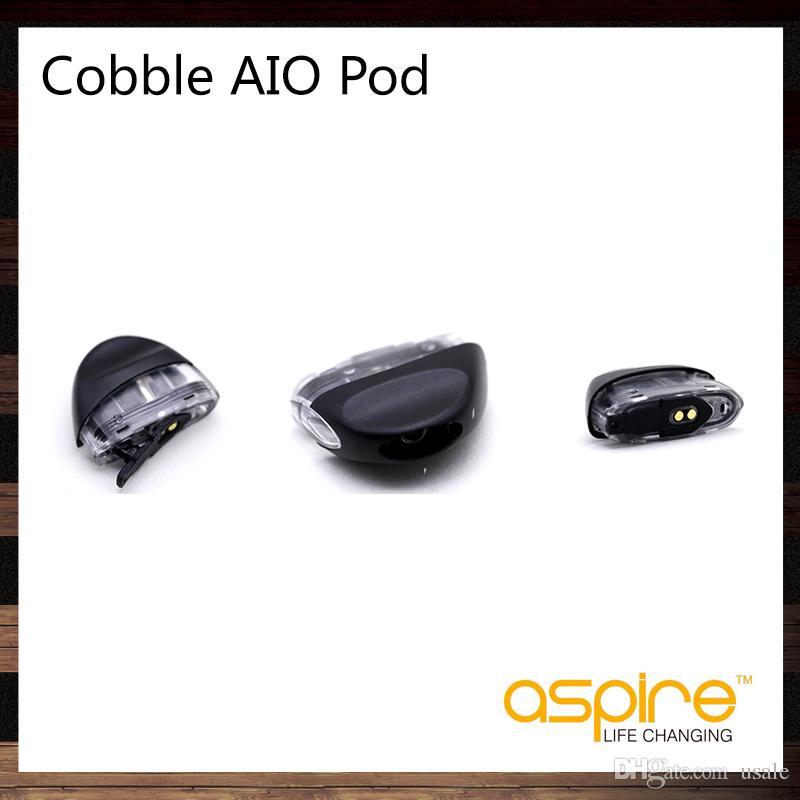 Aspire Cobble AIO Pod 1.8ml Cartucho de reemplazo con 1.4 ohmios Nichrome Coil para Cobble AIO Pod Kit 100% original