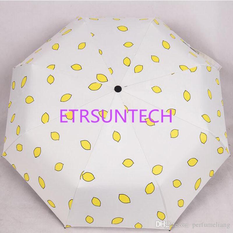 Cute Lemon Arbelon Banana Parasol Deszcz Kobiety Składane Słoneczny I Deszczowy Wiatroszczelny Pongoe Podróży Parasole QW7718