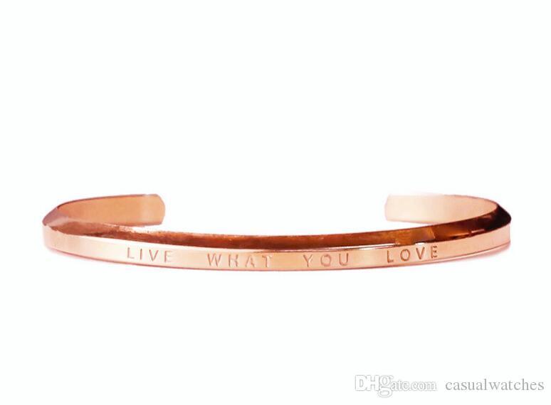 2018 Bracelet en or noir et argent dames neuves avec bracelet simple et élégant