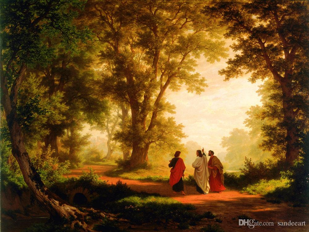 2019 Hd Prints Art Oil Painting Landscape Robert Zund The Road To Emmaus Reproduction Canvas Modern Wall Home Art For Living Room Decor A095 From