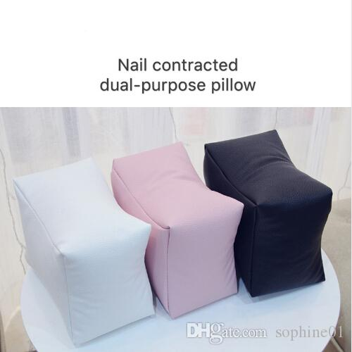 Nail Art PU Leather Table Hand Pillow White/Black/Pink Arm Rest Cushion Salon Manicure Tool Hand Rests Nail Care Pillow