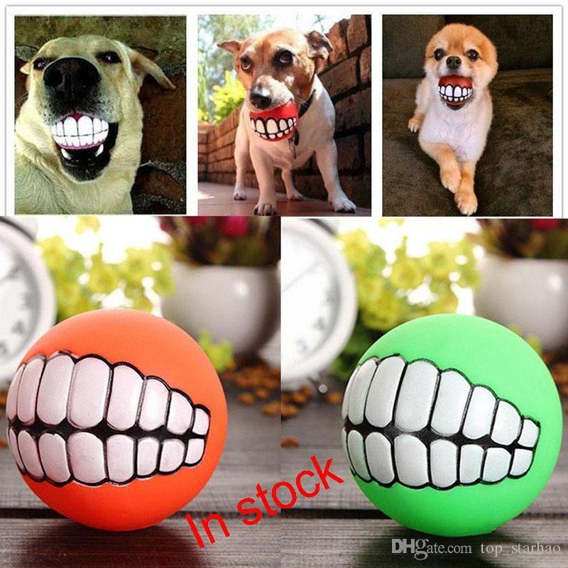 2017 Pet Puppy Dog Funny Ball Denti Silicon Chew Sound Cani Gioca New Funny Animali Cane Puppy Ball Denti Silicon Toy XL-G319