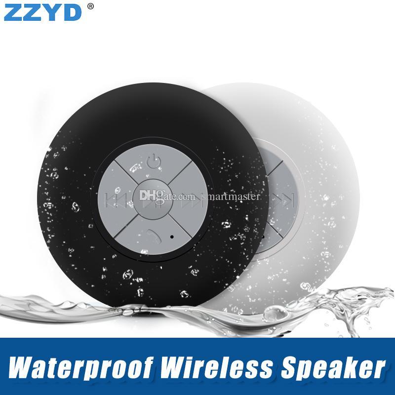 ZZYD البسيطة المحمولة للماء بلوتوث اللاسلكية مكبر صوت السيارة يدوي تلقي دعوة الموسيقى شفط الهاتف ميكروفون ل ip 7 8 سامسونج s8