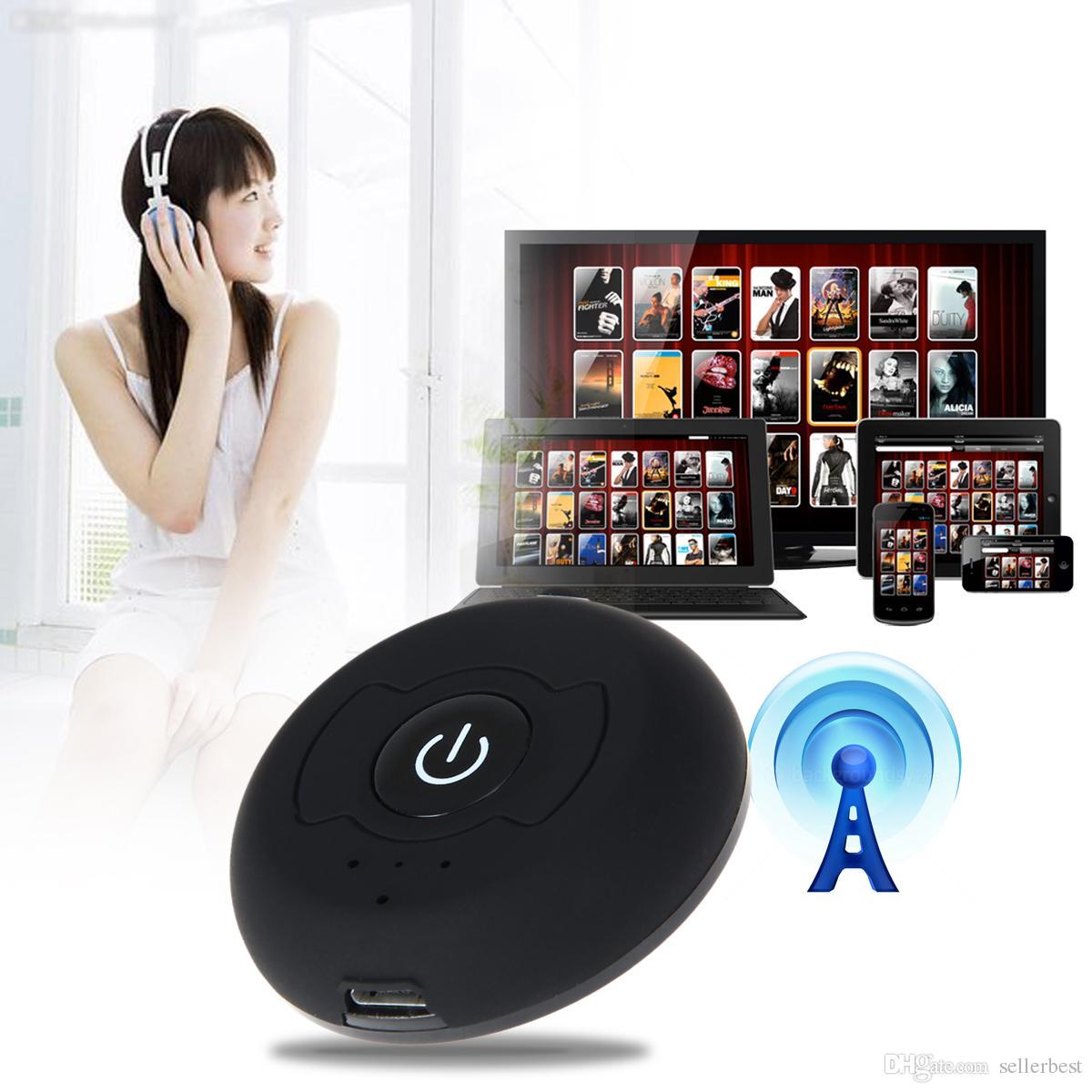 1x2 Splitter Mehrpunkt Wireless Audio Bluetooth Sender Musik Stereo Dongle Adapter für TV Smart PC DVD MP3 H-366T Bluetooth 4.0 A2DP