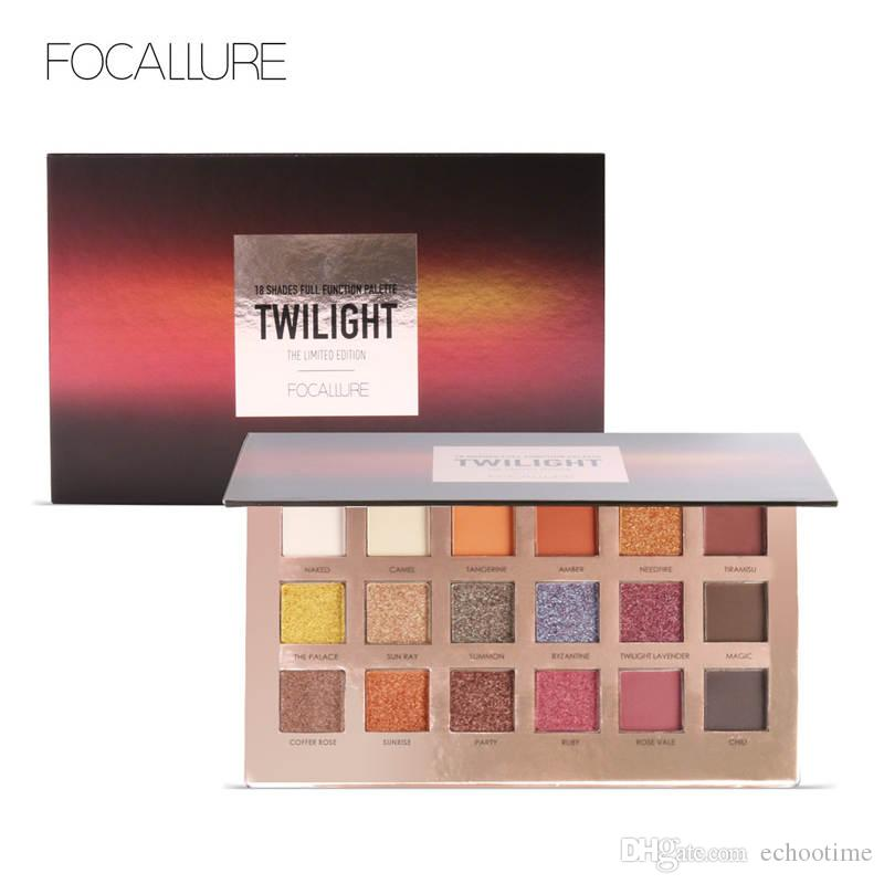 Hot Selling FOCALLURE 18Colors Eyeshadow Makeup Shimmer Matte Pigment Eye Shadow Cosmetics Mineral Nude Glitter Eye Palette of Shades