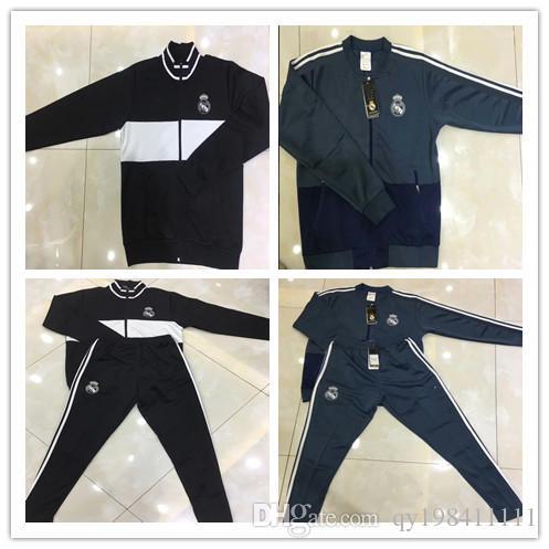 NEW 2018-19 Real Madrid Full zip jacket training suit RONALDO BALE RAMOS MODERIC 2018-19 Real Madrid Jogging jacket tracksuit