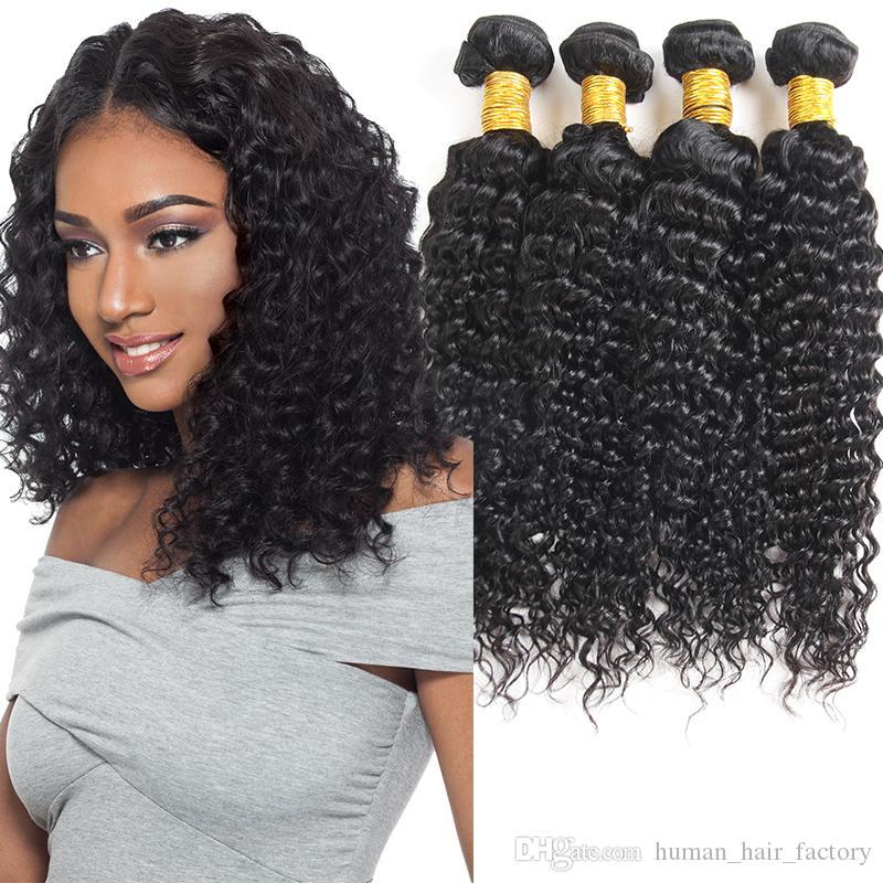 8a Brazilian Deep Wave Virgin Hair 4 Bundles Peruvian Indian Malaysia Brazilian Hair Wefts Cheap Brazilian Human Hair Bundles for Black Girl