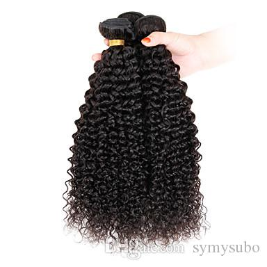 """1 Pcs/Lot 8""""-26"""" Virgin Human Indian Hair Extensions For Short Hair Afro Kinky Curly Hair Weave 100G"""
