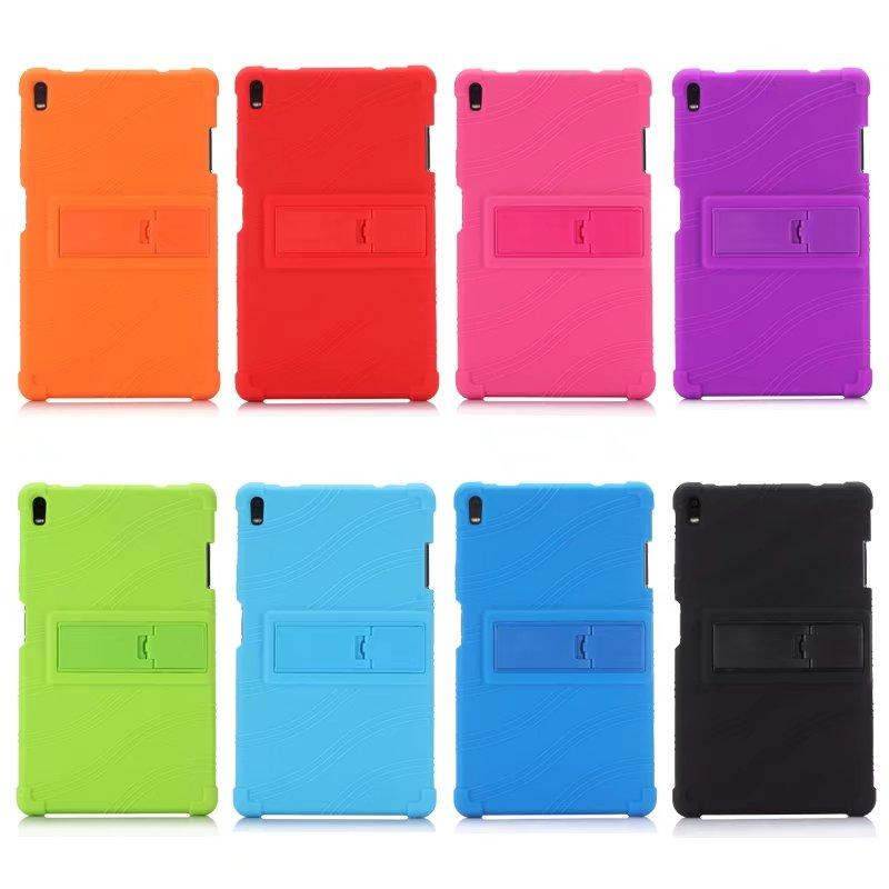 Soft Silicone Rubber TPU Back Cover for Lenovo Tab 4 8 Plus TB-8704F TB-8704N TB-8704X TB-8704 8 inch Tablet Case with Stand 50pcs