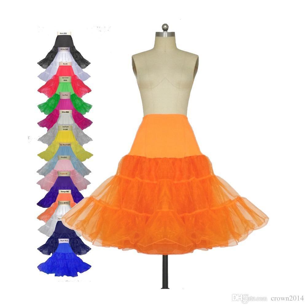 2020 Short Wedding Petticoats Bridal Underskirt Slip Women A-Line Crinoline Skirt TUTU Plus Size Bridal Accessories