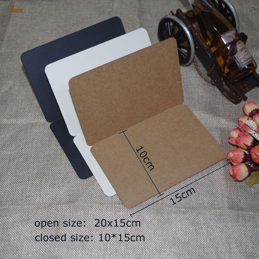 100 шт. / Лот A6 размер 10x15 см складной крафт-бумага 350gsm, ностальгический стиль ретро, DIY слово карта, творческие мемориальные поздравительные открытки