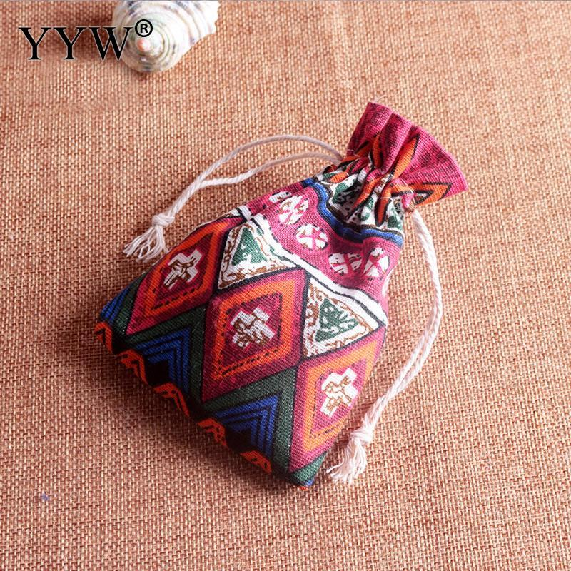 Lots 50pcs Drawstring Jewelry Pouches Cotton Gift Bags Wedding Favors 100x140mm