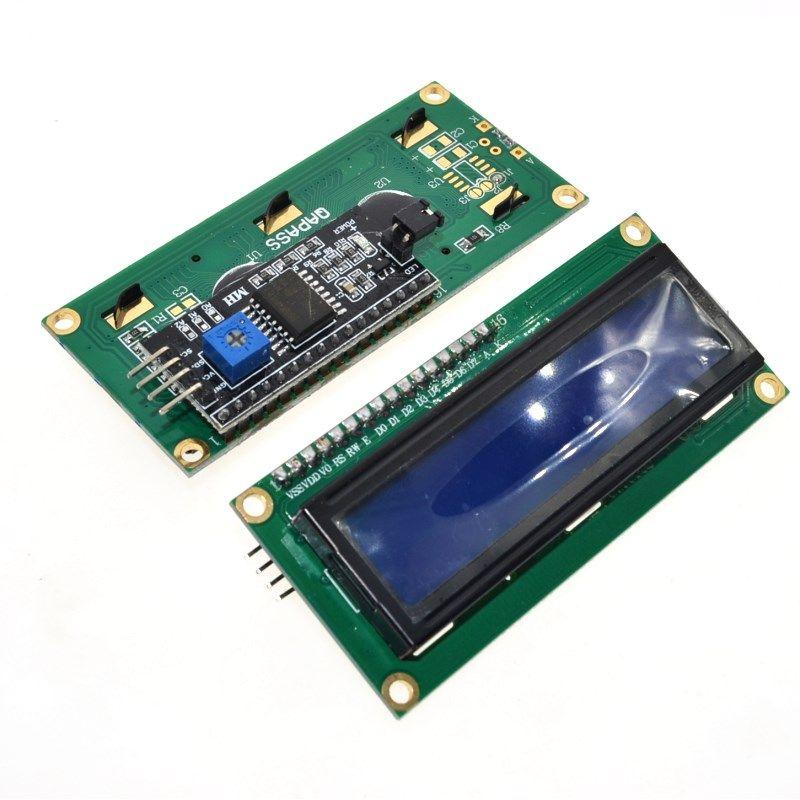 1 ADET LCD modülü Mavi ekran IIC / I2C 1602 arduino için 1602 LCD UNO r3 mega2560