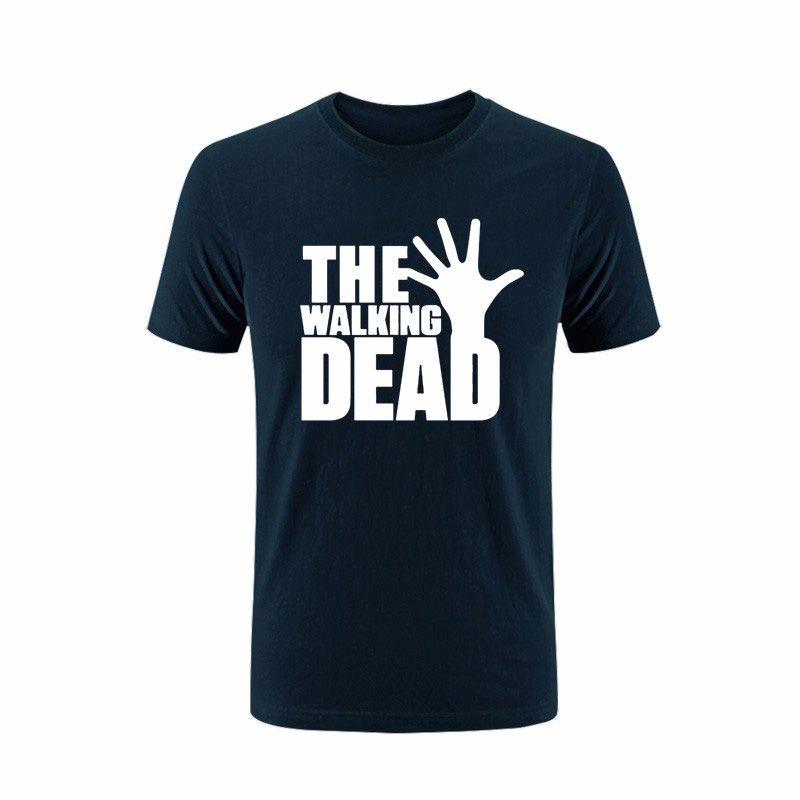 Customize Tee Shirts 2017 Summer The Walking Dead Loose Printed Mens Men T Shirt Fashion Short Sleeve Cotton Tshirt