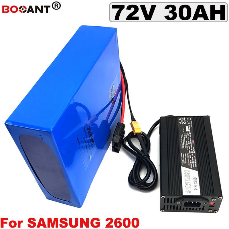 Литиевый аккумулятор 72V 30Ah аккумулятор электрический велосипед 72V 1500W 3000W для Samsung 18650 кювету с 5A Зарядное устройство Бесплатная доставка