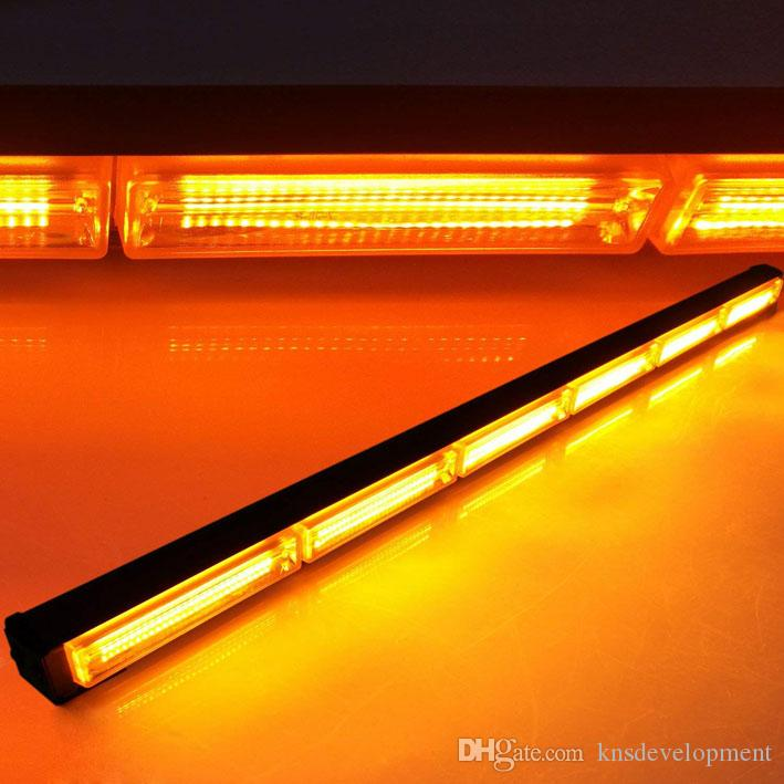 4In1 COB LED Remote Control Emergency Traffic Advisor Grill Amber Strobe Lights