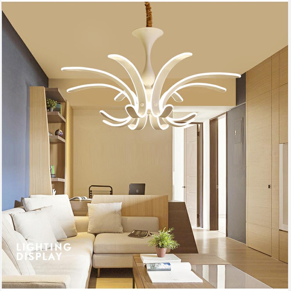 Lampe Salon Salle À Manger acheter nouveau lustre moderne led pour salon salle À manger salle corps  acrylique corps intérieur lustre lampe luminaire de 272,6 € du honpus |