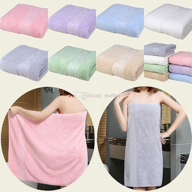 Cotton Bath Towel Lady Girls SPA Shower Towel Body Wrap Bath Robe Beach Spa Bathrobes Home Hotel Supplies Xmas Gifts 140*70cm WX9-1055
