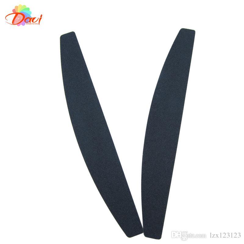 100/180 grit Nail file 50pcs/lot nail tools Black sandpaper plastic 80/80 emery board
