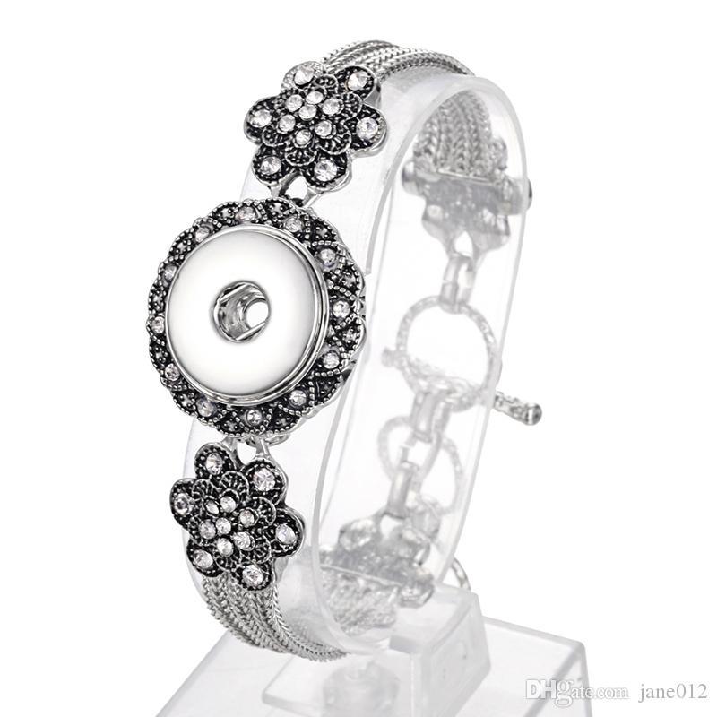Nueva Moda DIY Noosa Chunks Snap Jewelry Charm Bracelet fit aleación botón para mujeres joyería al por mayor