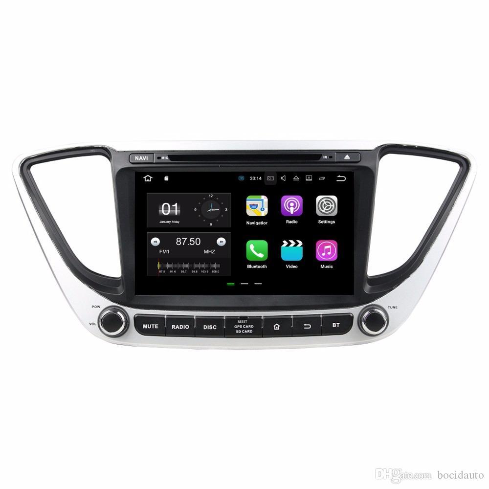 "2GB RAM Quad core 8"" Android 7.1 Car Audio DVD Player Car DVD for Hyundai Verna 2017 With GPS Radio Bluetooth 3G 4G WIFI 16GB ROM"