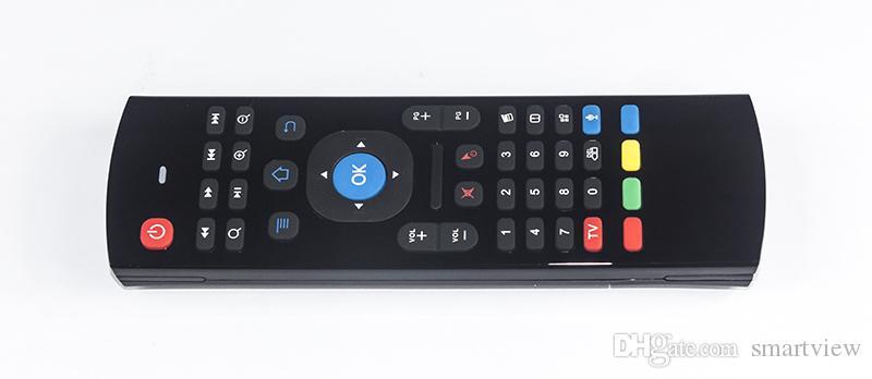 50 stücke x8 mx3 2.4ghz Remote Wireless Air Mouse fliegen Maus QWERTY Keyboard Gyro Sensing Remote IR Lernen mit Voice Mictelefon