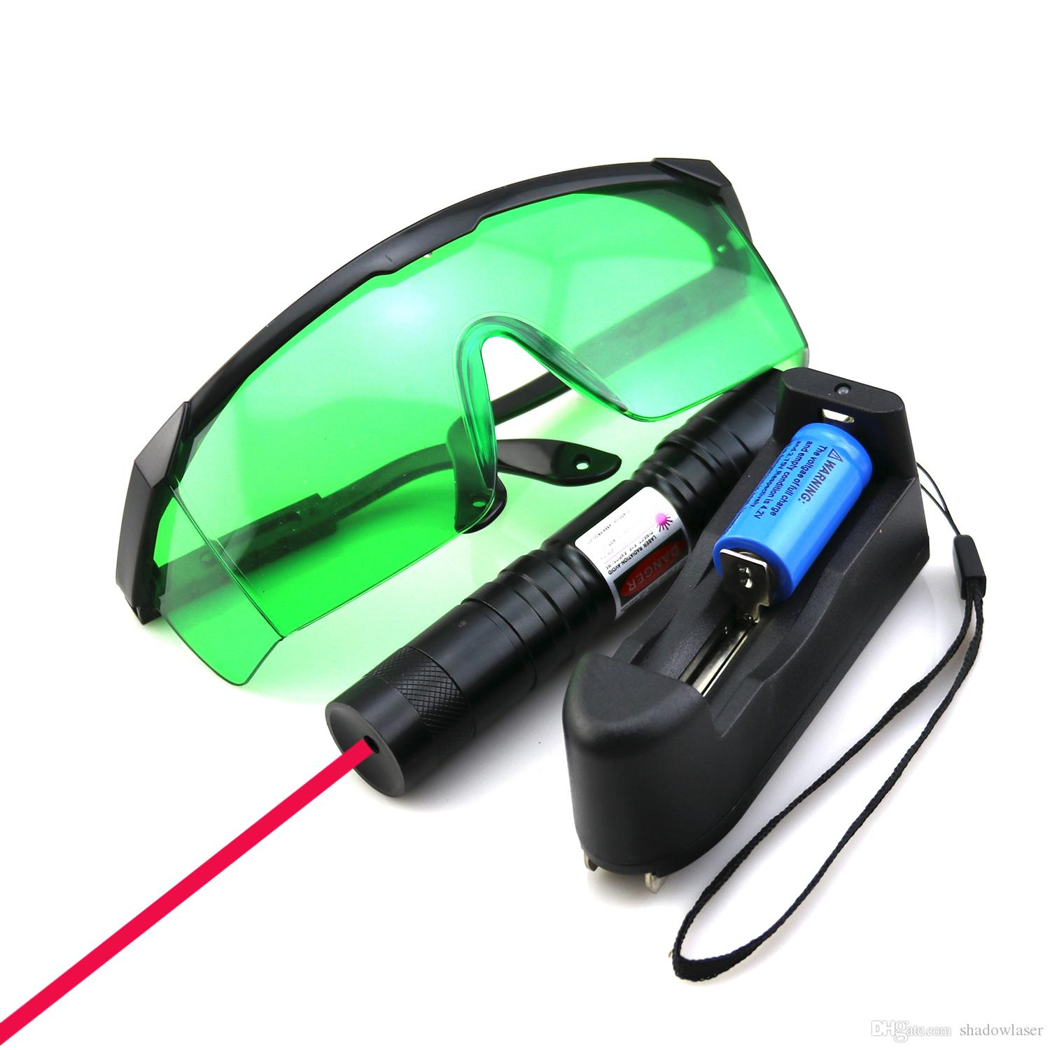SDLasers RS4-0200 Adjustable Focus 650nm Red Laser Pointer With 1*16340 Li Battery & Charger & Goggles Funny Pet stick