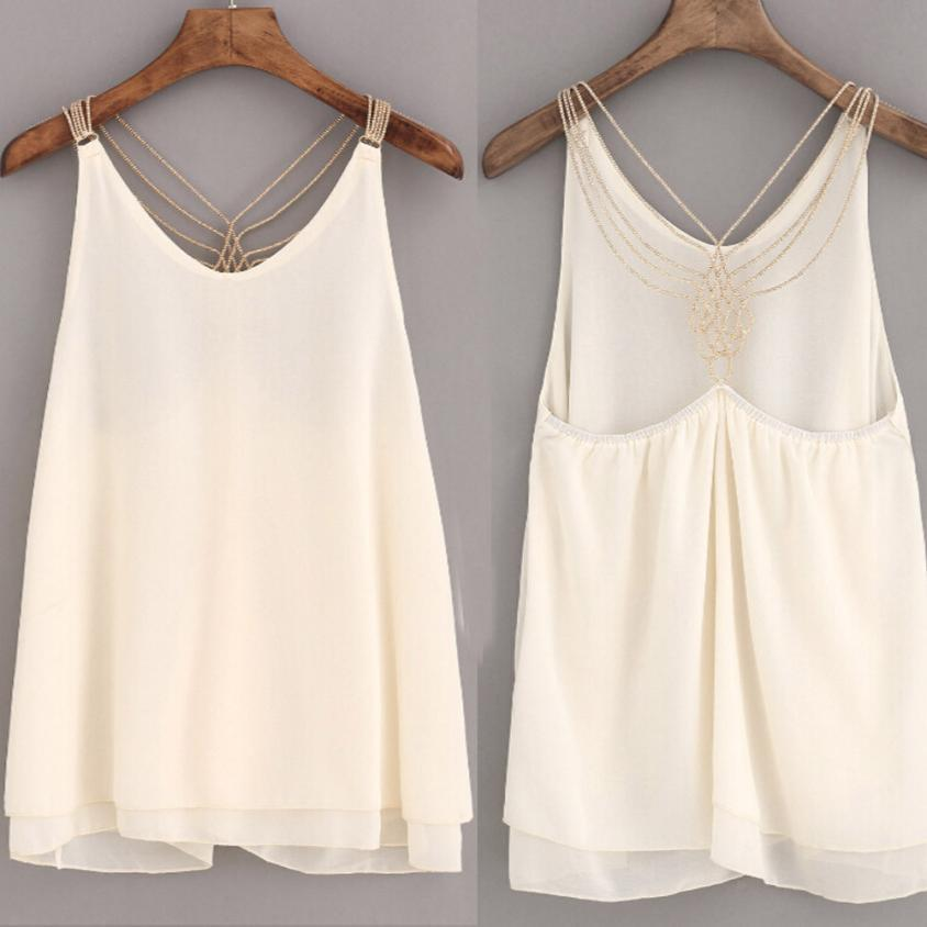 Camicetta moda donna Camicetta senza maniche Crop Tops Canotta Backless Halter Canotte Camicetta T-Shirt augu2