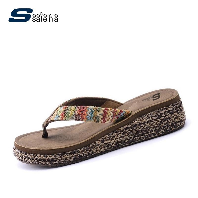 Pantoufles femmes chaussures molles pantoufles classiques été femmes chaussures de sport compensées tongs AA10113