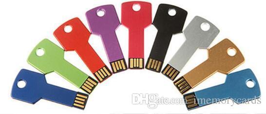 Key Style 256GB 128GB 64GB USB 2.0 flash drives Memory Sticks Pen Drives Disk pendrives retail package free shipping