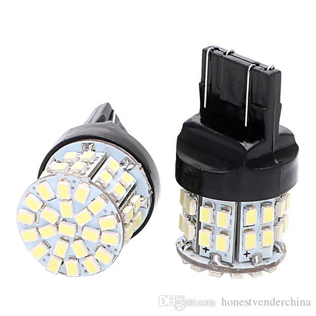 2X T20 7443 Car LED Brake Light Stop Rear Bulb 50SMD Auto Turn Signal Lamp W21/5W Backup Reserve Lights Universal