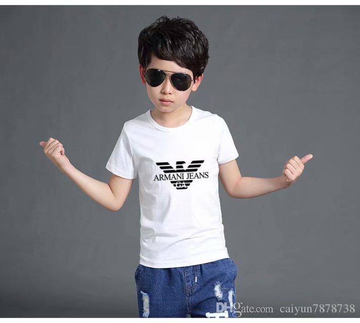 Nuevos niños de la moda de la solapa de manga corta camiseta Niños Tops Ropa Marcas Color sólido Camisetas Niños polos camiseta Niñas Camisetas de algodón clásicas
