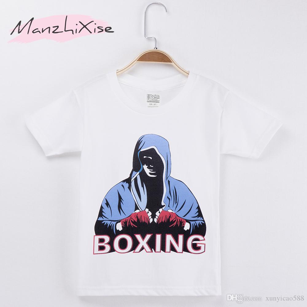 2018 Nuovo prodotto Abbigliamento per bambini Magliette per bambini Campione di boxe Magliette per bambini in cotone Maglietta per bambini Maglietta per neonato Vestiti per bambina