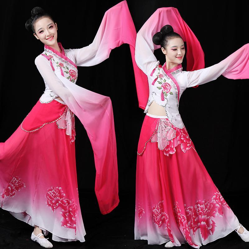 Classique Femme Chine néon danse vêtements de style manches longues danse pratique moderne Astonishing Hanfu Femme Adulto