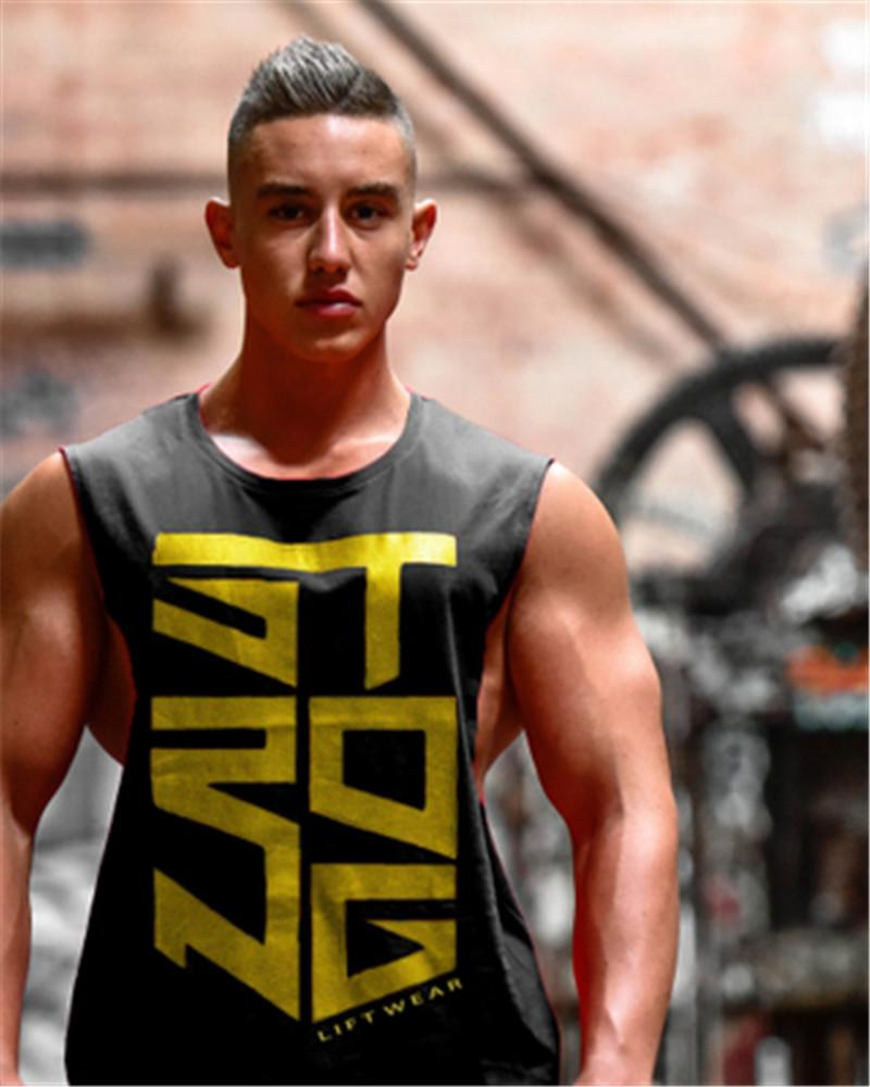 Cool Letter Impreso Fitness Hombres Tank Top Army Camo Camuflaje Hombres Bodybuilding Stringers Tank Tops Singlet Brand Clothing Strongliftwear