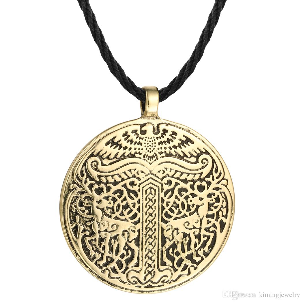5pcs/lot New Yggdrasil Tree of life World Tree Irminsul Viking Deer Pendant Necklaces Legend Ancient Chokers Fahsion Accessary