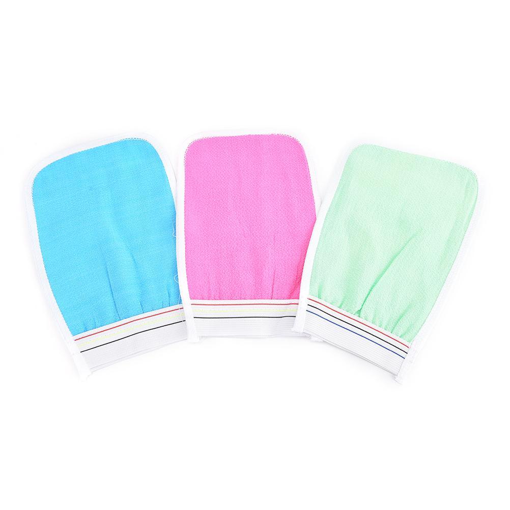 HOT 1 Pc Suave Esfoliante Lavar a Pele Spa Luva de Banho esfrega luva magia peeling luva de Banho de Bolha de Flores Pequeno esfregar Pano