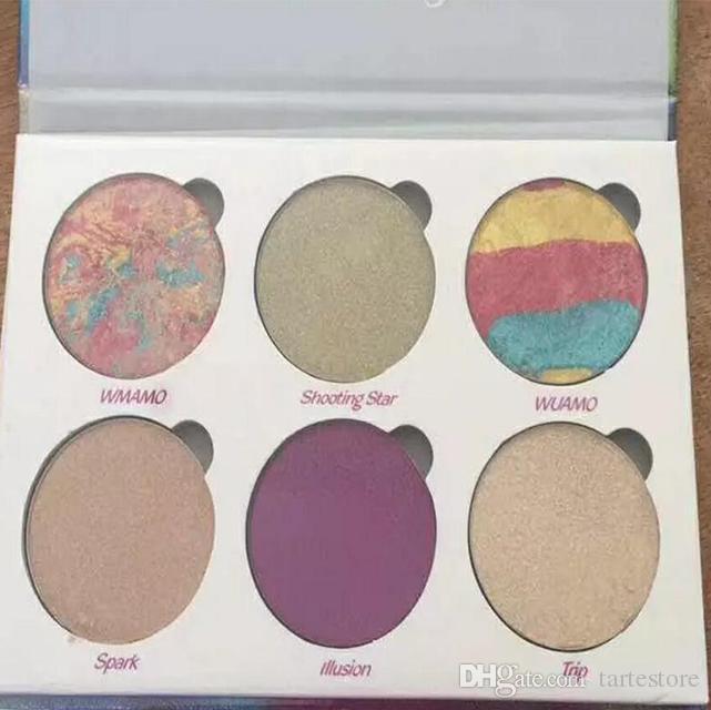 Maquillaje del brillo de la gama de colores 6 colores usted es increíblemente hermoso marcadores Polvo Paleta envío libre de DHL