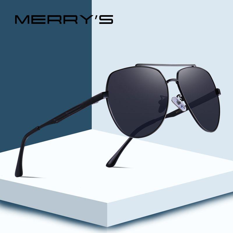 MERRY'S DESIGN Men Classic Pilot Sunglasses Aviation Frame HD Polarized Sunglasses For Mens Driving UV400 Protection S'8175