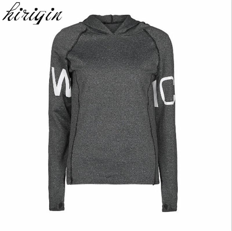 Jaquetas de corrida das mulheres 2017 nova manga longa jaqueta de fitness yoga ginásio de fitness apertado tops quick-dry respirável casaco esportivo