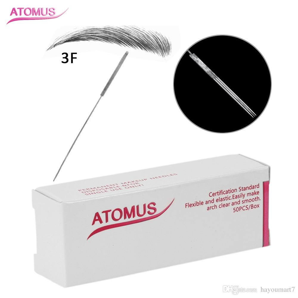 3F Tattoo Needle Professional Permanent Makeup Needle for Eyeliner Lips Eyebrow 3D Embroidery Sterilized Disposable Tattoo Tips