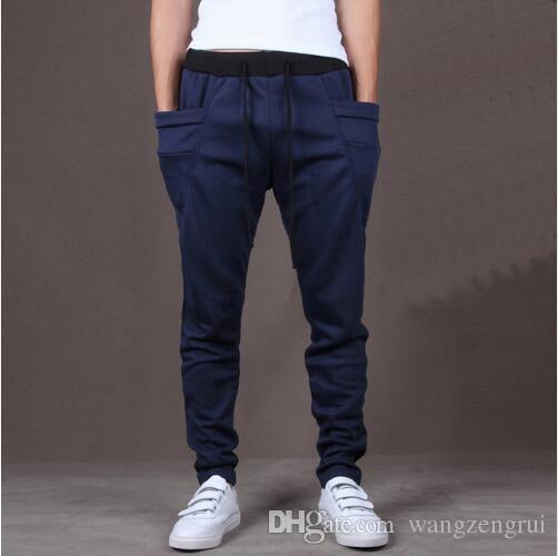 2019 мода Мужские брюки уникальный большой карман хип-хоп гарем брюки качество верхняя одежда спортивные штаны случайные мужские бегуны ТОП ЗДЕСЬ Мужские брюки