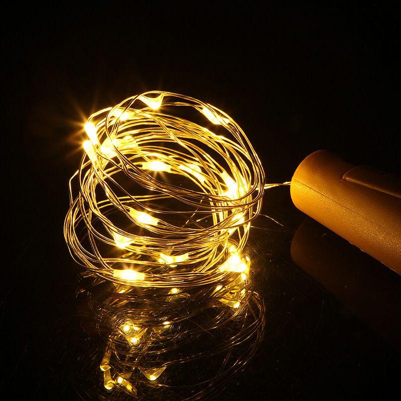 عطلة عيد الميلاد زينة الجنية أضواء 2M 20leds كورك على شكل ضوء سلسلة سدادة زجاجة لحزب عيد الميلاد الزفاف