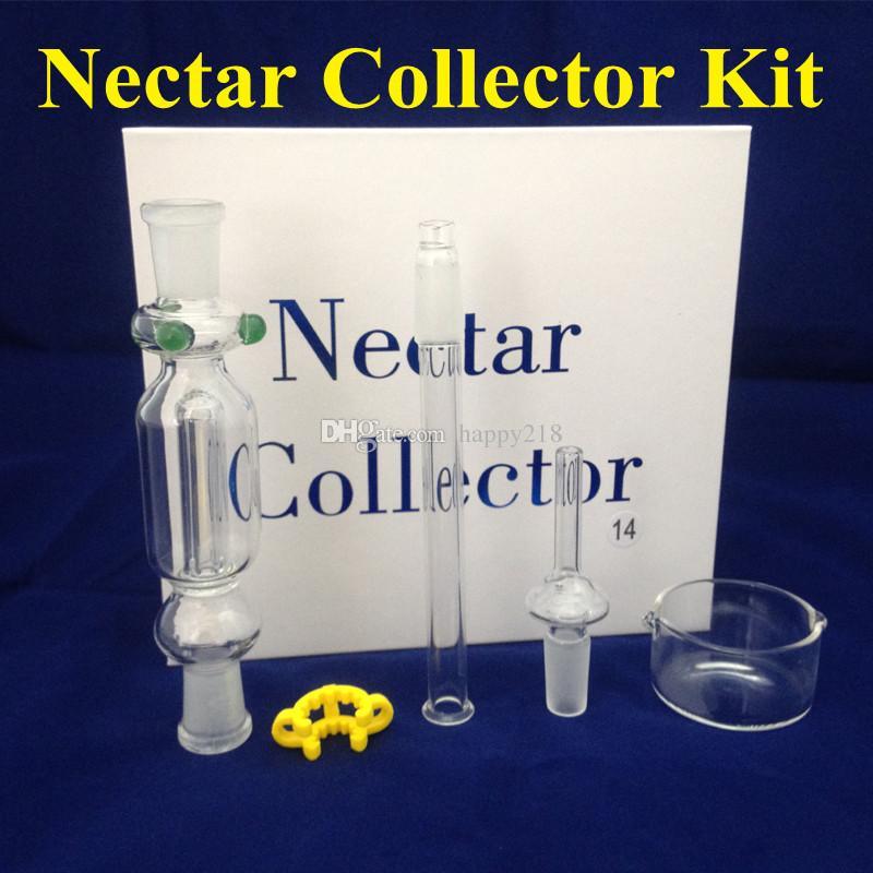 Nectar Collector z plastikowymi klipami k-klipów Keck Clip szklane rury 14mm Nectar Collector Set w magazynie DHL za darmo do USA