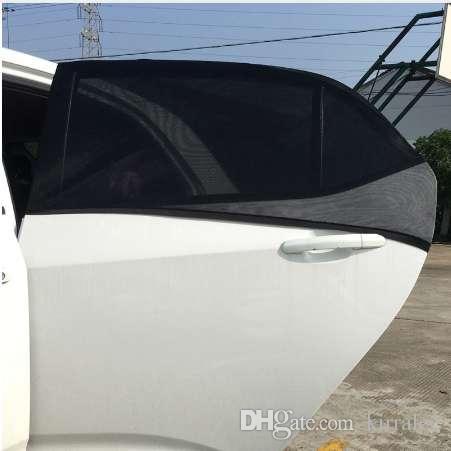 Car-Styling Car Sun Shade 2xCar 66x54cm Window Cover Sunshade Curtain UV Protection Shield Visor Mesh Dust Car Window Mesh